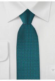 Krawatte Punkte blaugrün dunkelgrau