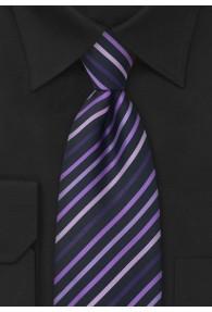Krawatte schwarz violett