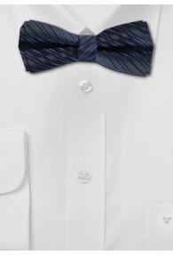 Schleife zum Selberbinden navyblau Streifen