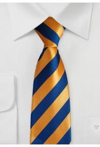 Gummizug-Kravatte orange blau