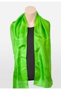 Chorschal Seiden-Chiffon grün