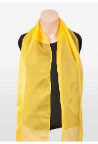 Damenschal Chiffon gelb