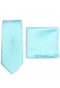 Krawatte und Einstecktuch im Set - mint