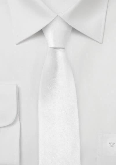 Moulins Schmale-Krawatte in reinweiß