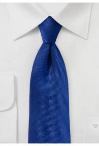 Krawatte fein texturiert blau