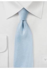 Kravatte zierlich strukturiert eisblau