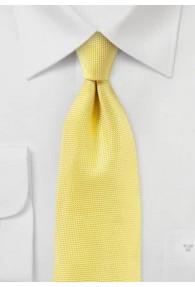Businesskrawatte zierlich texturiert gelb
