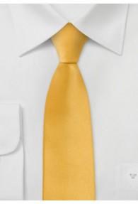 Moulins Schmale-Krawatte in warmem gelb