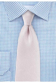 Krawatte  fein texturiert blush-rosé