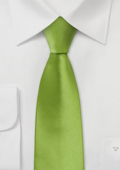 Schmale Krawatte in frischem Grün