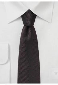 Krawatte Streifenstruktur schokoladenbraun