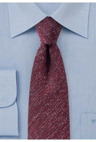 Krawatte Wolle kirschrot