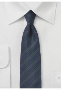 Streifen-Herrenkrawatte nachtblau mit Wolle