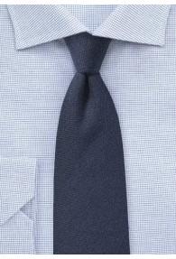 Krawatte strukturiert navy mit Wolle
