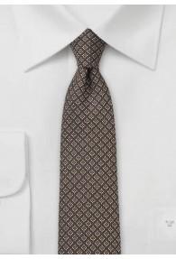 Krawatte Gitter-Pattern schokoladenbraun