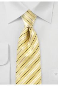 Krawatte Baumwolle Streifendesign blassgelb