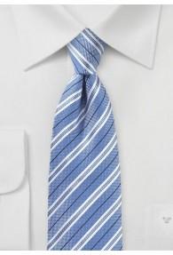 Businesskrawatte Baumwolle Streifendessin hellblau