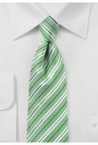 Herrenkrawatte Baumwolle Streifendesign blassgrün