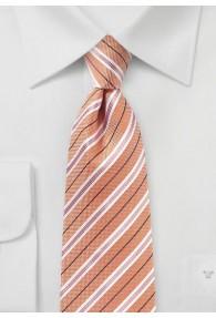 Krawatte Baumwolle Streifendessin blassorange