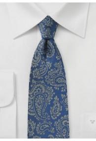 Krawatte Paisley-Motiv ultramarinblau