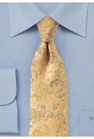 Krawatte Paisley-Muster safran anthrazit