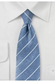 Herrenkrawatte Streifen graublau