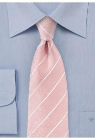 Krawatte Streifen rose