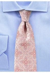 Krawatte Blumen-Dekor rosé
