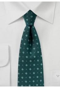 Krawatte vegetativ flaschengrün
