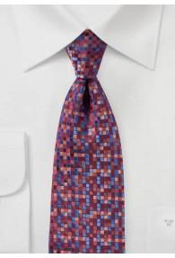 Krawatte Kästchen-Muster bordeaux ultramarin