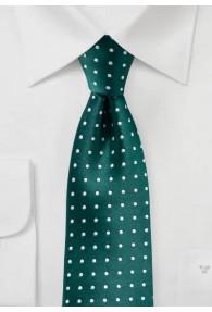 Businesskrawatte Punkt-Pattern flaschengrün