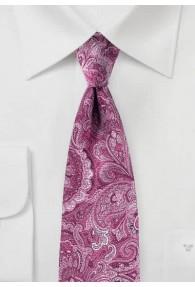 Überschäumende Paisleymuster-Krawatte dunkelrosa