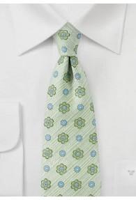 Krawatte Blumenmotiv hellgrün