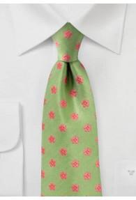 Krawatte Retro-Design Blumen grün