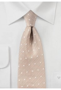 Krawatte Struktur Punkte beige
