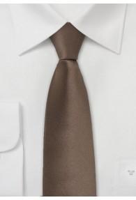 Limoges Schmale Krawatte in mocca