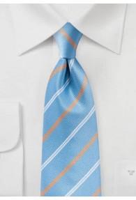 Krawatte Business-Streifen himmelblau