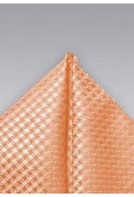 Einstecktuch Netz-Struktur orange weiß