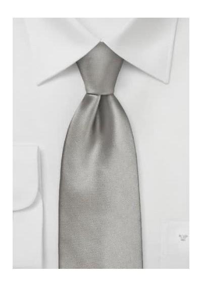 Krawatte Gummizug hellgrau
