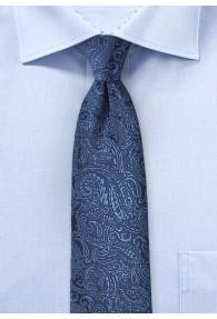 Markante Krawatte Paisley-Muster royal hellblau