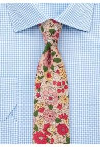 Blumen-Krawatte Baumwolle nude
