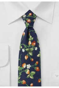Krawatte Erdbeer-Ranken navy