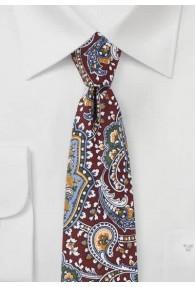 Krawatte  Paisley-Motiv mittelbraun