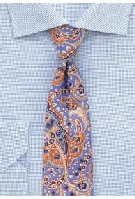 Krawatte  Paisley eisblau