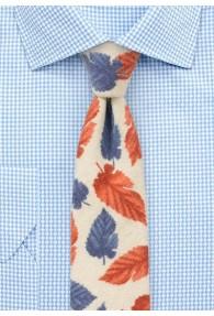 Krawatte Blätter beige