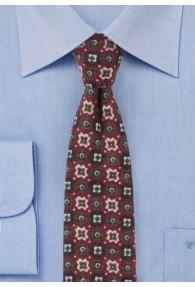 Krawatte Ornamenturen bordeaux