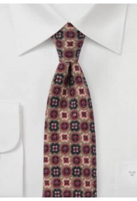Krawatte Ornamenturen ocker