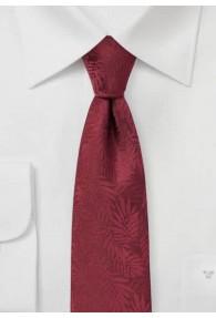 Krawatte Farn-Struktur weinrot
