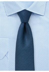 Krawatte Herringbone dunkeltürkis