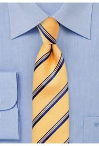 Krawatte Streifen gelb